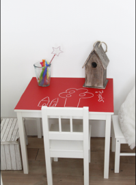 krijtbord tafeltje ikea