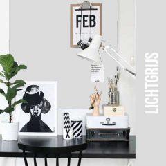 magneet krijtbordbehang luxe lichtgrijs