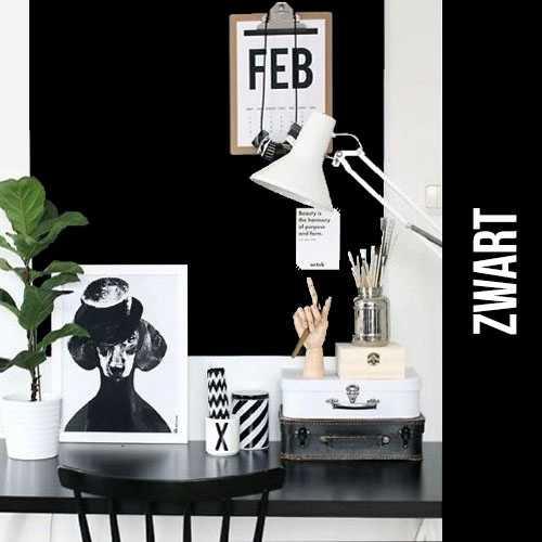 magneet krijtbordbehang luxe zwart