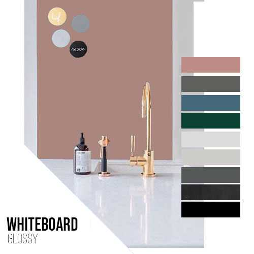 Kleurstalen MAGNEET-WHITEBOARD GLOSSY panelen