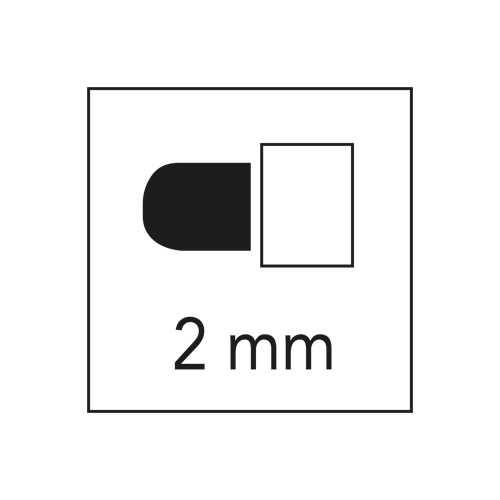 Krijtbord stiften SMALL WIT (2)