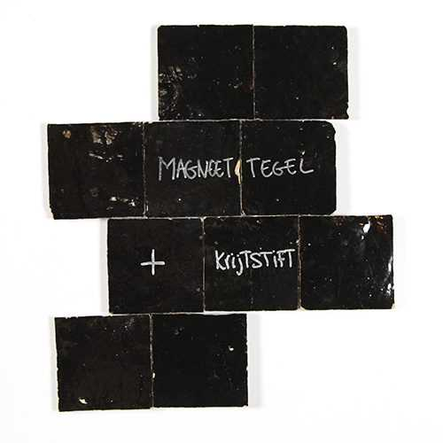Magneet TEGEL ZWART 10x10cm-2