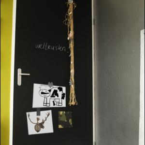 magneetbord en krijtbord deur