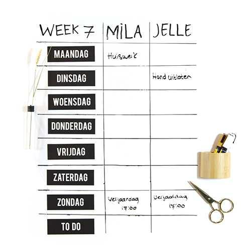 Magneten weekdagen ZWART (8)