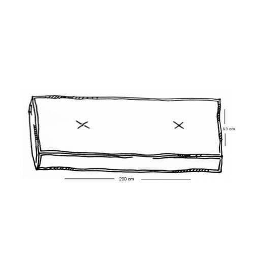 Matraskussens lounge 200x60x15 cm