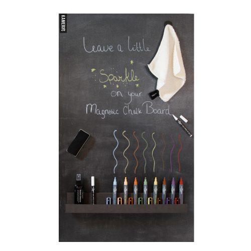 Magneetbord schrijven en schoonmaken- markers sfeer