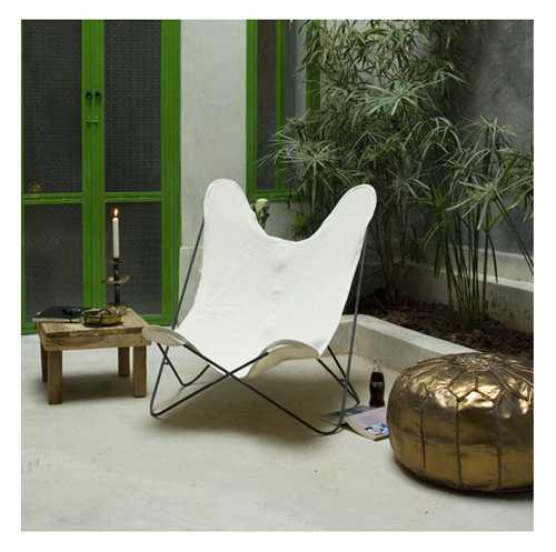 Vlinderstoel WIT