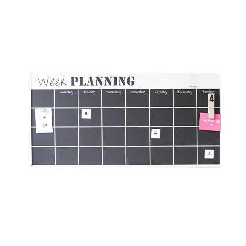 Weekplanner Magneet XL zonder lijst