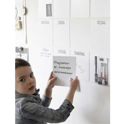 Weekplanner magneet MAGNETISCH wit (8)