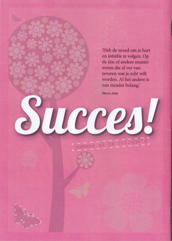 Magazine a la Flow achterzijde afscheidsmagazine