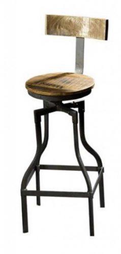 barkrukken staal hout