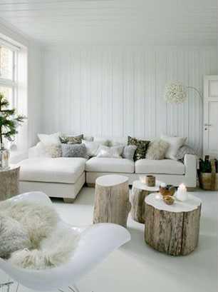 Winterhuis inspiratie boomstammetjes