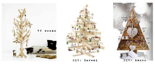 x-mas inspiratie kerstbomen oud hout
