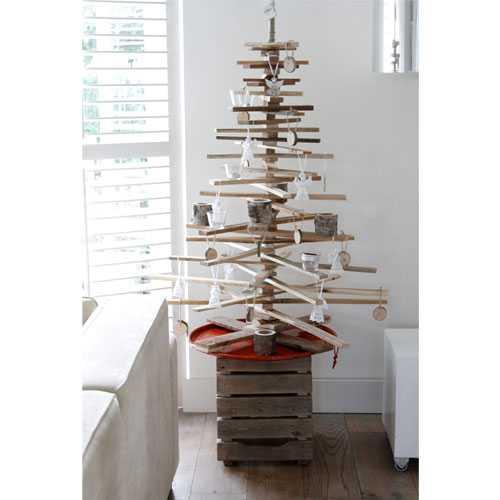 Kerstbomen van oud hout medium