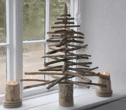 kerstboom boomstammen