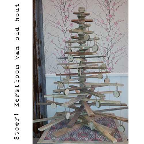 Kerstbomen van oud hout!