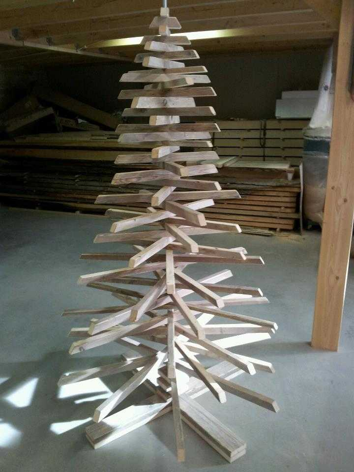 Kerstbomen van oud hout sloophout