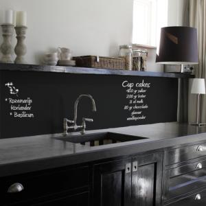 keuken krijtbord zwart