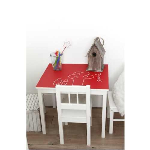 Krijtbordsticker ikea tafel atelier kamer26 - Tafel roze kind ...