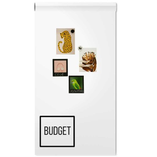 Magneetbehang budget - wit glossy