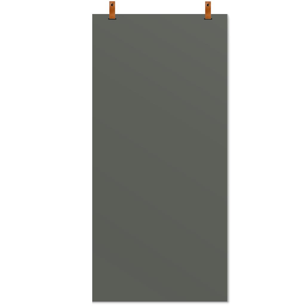 magneet krijtbord leren straps olijfgroen