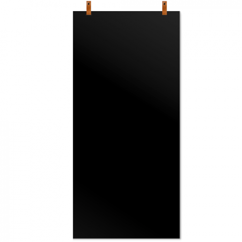 magneetbord leren straps zwart