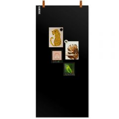 magneetbord_lerenstraps_zwart+magneten