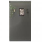 Magneetbehang glossy - whiteboard olijfgroen rol