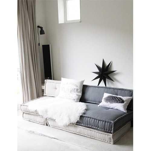 Matraskussens lounge 60 cm atelier kamer26 - Deco lounge grijs en beige ...