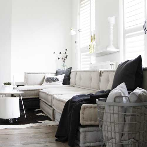 matraskussens lounge woonkamer detail