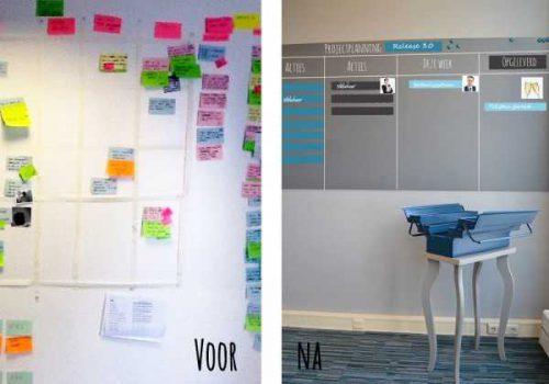 projectplanningen voor en na