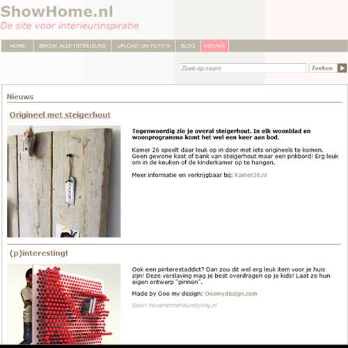 showhome nieuws